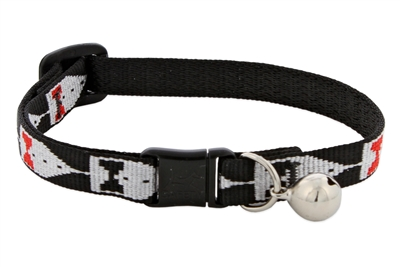"Retired Lupine 1/2"" Tuxedo Cat Safety Collar with Bell"