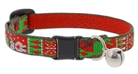 "Lupine 1/2"" Ugly Sweater Cat Safety Collar with Bell"
