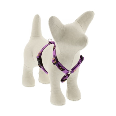 "LupinePet 1/2"" Haunted House 12-20"" Roman Harness - Small Dog MicroBatch"