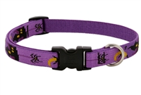"Lupine 3/4"" Haunted House 13-22"" Adjustable Collar - Medium Dog MicroBatch"
