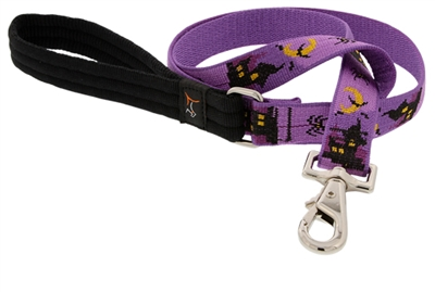 "Retired Lupine 1"" Haunted House 4' Long Padded Handle Leash"