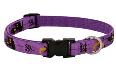 "Lupine 3/4"" Haunted House 9-14"" Adjustable Collar - Medium Dog MicroBatch"