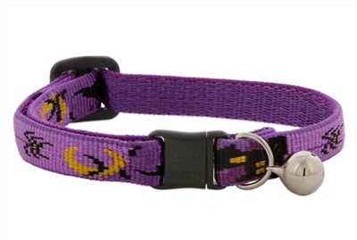 "Lupine 1/2"" Haunted House Cat Collar with Bell MicroBatch"