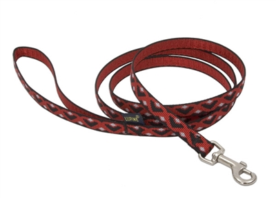 Retired Lupine Retro Red 6' All Webbing Leash - Small Dog or Cat