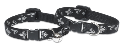 Lupine Retired Silver Charm Cat Collar with Bell