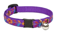"Retired Lupine 1/2"" Spring Fling Cat Safety Collar With Bell"