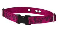 "Lupine Plum Blossom 1"" Underground Containment Collar - Large Dog"