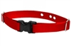"Lupine Solid Red 1"" Underground Containment Collar - Large Dog"