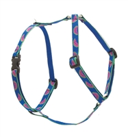 "Retired Lupine Watermelon 9-14"" Roman Harness - Small Dog"