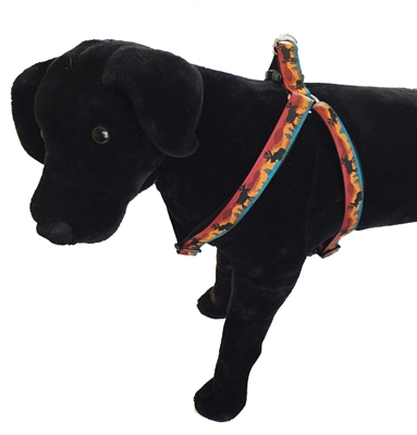 "Lupine Moose on the Loose 19-28"" Step-in Harness - Large Dog"