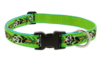 "Lupine Originals 1"" Panda Land 16-28"" Adjustable Collar for Medium and Larger Dogs"