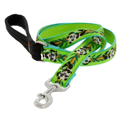 "Lupine 1"" Panda Land 4' Padded Handle Leash"