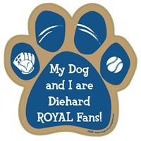 My Dog and I are Diehard Royals Fans Magnet