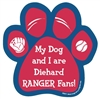 My Dog and I are Diehard Rangers Fans Magnet
