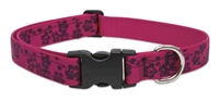 "Lupine Originals 1"" Plum Blossom 16-28"" Adjustable Collar for Medium and Larger Dogs"