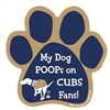 My Dog Poops on CUBS Fans (Brewers Colors) Magnet