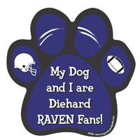 My Dog and I are Diehard Ravens Fans Magnet