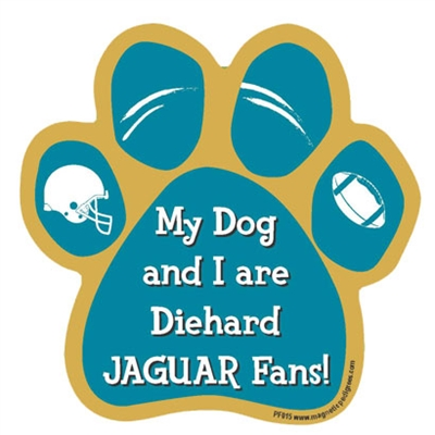 My Dog and I are Diehard Jaguars Fans Magnet
