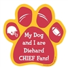 My Dog and I are Diehard Chiefs Fans Magnet