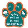 My Dog and I are Diehard Dolphins Fans Magnet