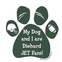 My Dog and I are Diehard Jets Fans Magnet