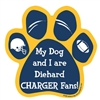 My Dog and I are Diehard Chargers Fans Magnet