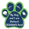 My Dog and I are Diehard Seahawks Fans Magnet