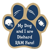 My Dog and I are Diehard Rams Fans Magnet