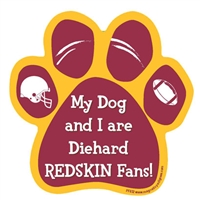 My Dog and I are Diehard Redskins Fans Magnet