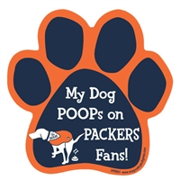 My Dog Poops on PACKERS Fans (Bears Colors) Magnet
