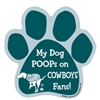My Dog Poops on COWBOYS Fans (Eagles Colors) Magnet