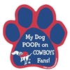 My Dog Poops on COWBOYS Fans (Giants Colors) Magnet