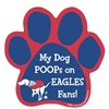 My Dog Poops on EAGLES Fans (Giants Colors) Magnet