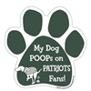 My Dog Poops on PATRIOTS Fans (Jets Colors) Magnet