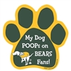 My Dog Poops on BEARS Fans (Packers Colors) Magnet