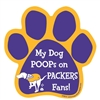 My Dog Poops on PACKERS Fans (Vikings Colors) Magnet