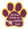 My Dog Poops on COWBOYS Fans (Redskins Colors) Magnet