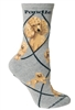 Wheel House Design Poodle, Apricot on Gray Socks (Size 9-11)