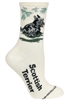 Wheel House Design Scottish Terrier on Natural Socks (Size 9-11)