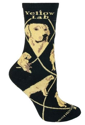 Wheel House Design Lab, Yellow on Black Socks (Size 10-13)