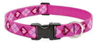 "LupinePet Originals 1"" Puppy Love 12-20"" Adjustable Collar for Medium and Larger Dogs"