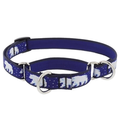 "LupinePet Polar Paws 19-27"" Martingale Training Collar - Medium Dog"