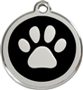 Red Dingo Large Paw Print Tag