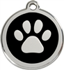 Red Dingo Medium Paw Print Tag