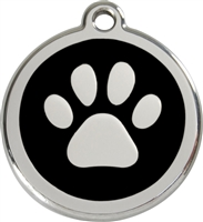 Red Dingo Small Paw Print Tag