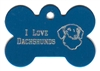 I Love Dachshunds Bone Pet Tag