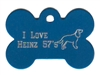 I Love Heinz 57's Bone Pet Tag