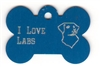 I Love Labs Bone Pet Tag