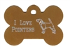 I Love Pointers Bone Pet Tag