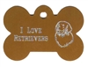 I Love Retrievers Bone Pet Tag